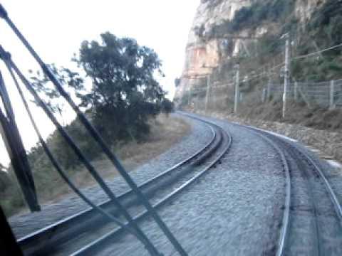 Travel between Monistrol and the Monastery of Montserrat - Spain - Rack railway