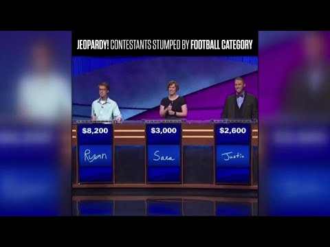 Jeopardy! contestants fumble the ball when it comes to football category