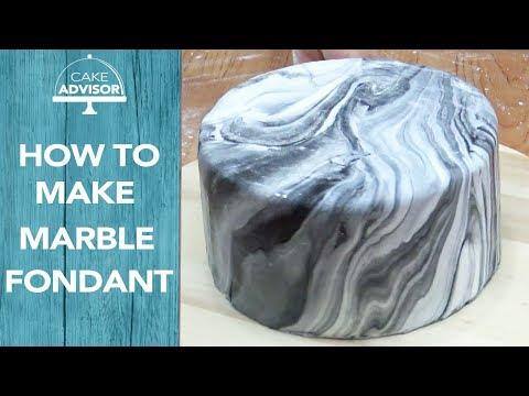 How to make marble fondant cake by Cake Advisor