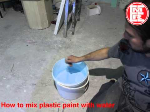 How to mix plastic blue