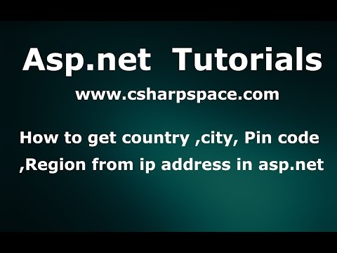 How to get country ,city, Pin code, Region from ip address in asp.net