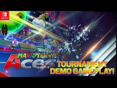 【Mario Tennis Aces】Online Tournament Demo Gameplay!