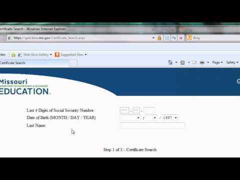 Requesting A Duplicate Missouri GED Certificate