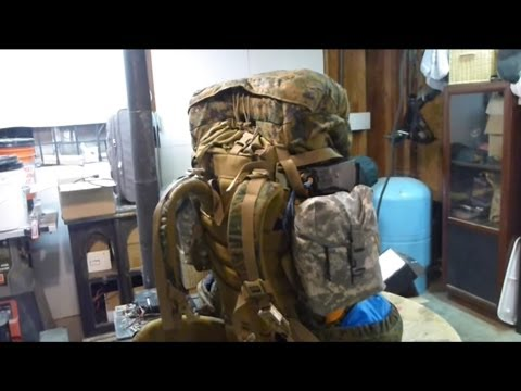 USMC ILBE Backpack Preliminary Trials & somewhat weight saving mods. Part 1