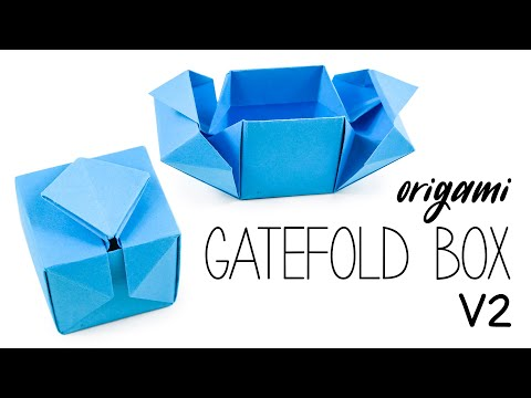 Origami Gatefold Box Tutorial V2  ♥︎ DIY ♥︎