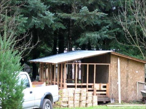 DIY - How to build a metal roof over your outdoor pig pen