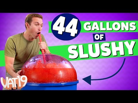 World's Largest Slushy Maker (44 gallons!)