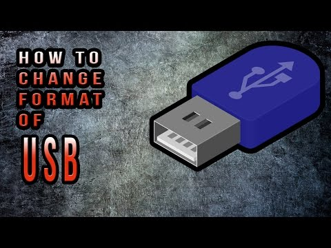 How To Change the File System of USB