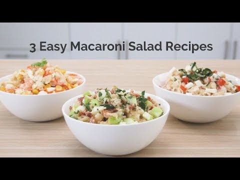 3 Easy Macaroni Salad Recipes
