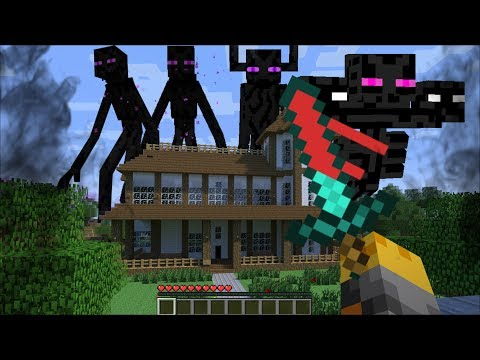 GIANT ENDERMAN APPEAR IN MY HOUSE IN MINECRAFT !! Minecraft Mods