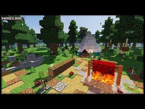 Minecraft - Camping Site Tutorial!