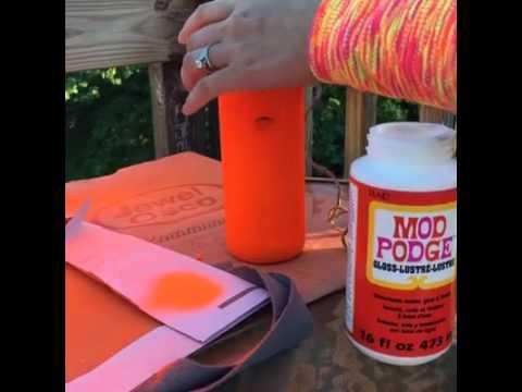 DIY Halloween Bottle Upcycle