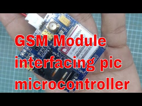 GSM MODULE SIM900D interfacing with microcontroller and PC