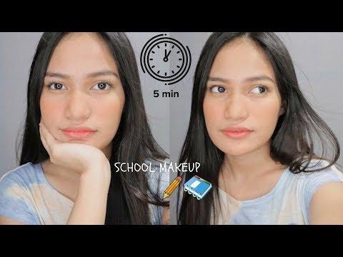 5 Minute makeup for SCHOOL (drugstoremakeup!) | Philippines