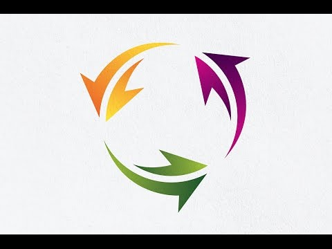 Adobe Illustrator CC | How to Make Circle Arrow Logo Design Tutorial | 2D Logo Gradient Effect