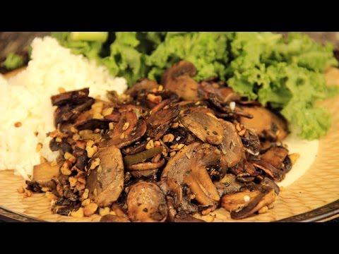 Roasted Mushroom Recipe - Low Fat Plant Based