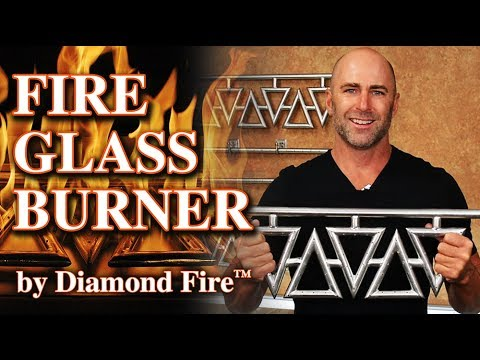 Gas Fireplace Burner for Indoor Fireplace - Diamond Burner