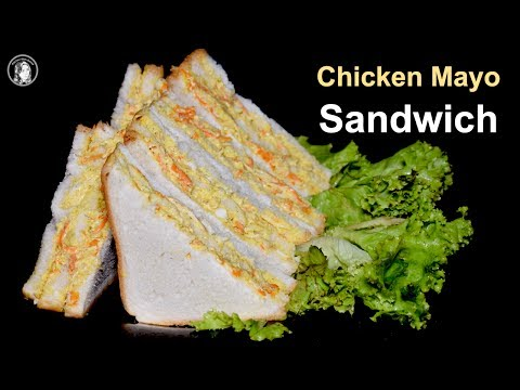 Chicken Mayo Veg Sandwich Recipe - Egg Mayonnaise Sandwich - Kids Lunchbox Recipe