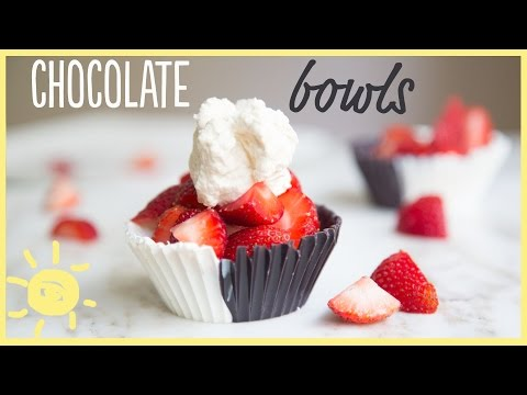 EAT   How to Make Chocolate Bowls (Easy, Fancy Dessert!)