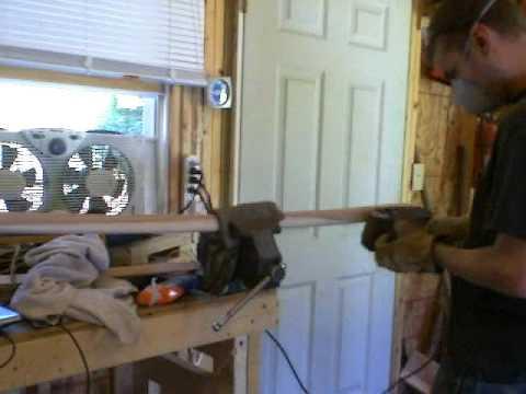 Making Your Own Bokken  Belt Sander