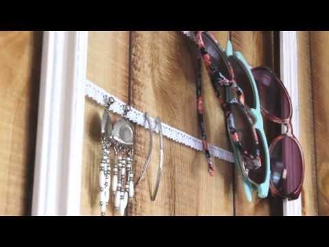 DIY - Upcycled Hanging Jewelry Organizer