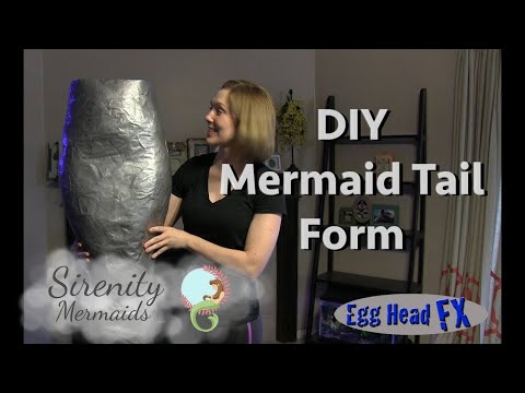 How to Make Your Own Mermaid Tail Leg Form