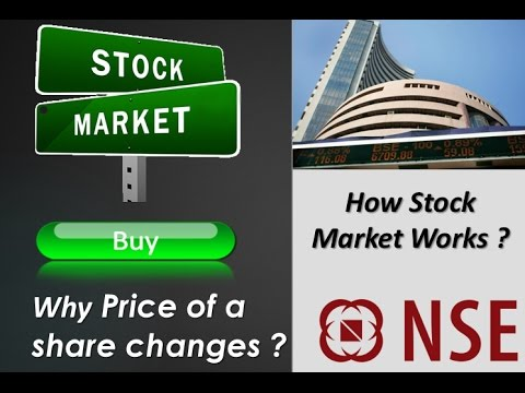 How Stock Market Works   Reason behind the change in share price explained with live example  Hindi