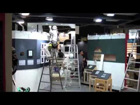 E Ink Booth Set Up Time Lapse