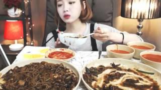 블랙데이특집!!! [쟁반짜장大 2그릇 :슈기의 먹방] Shoogi's Eating Show - jajangmyeon