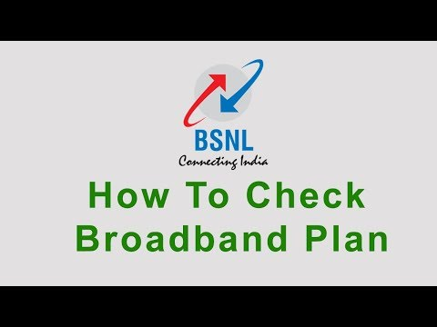 How to check my Bsnl broadband plan 2018?