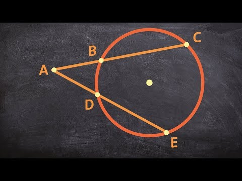 How do the lengths of two secant lines from a point outside a circle compare