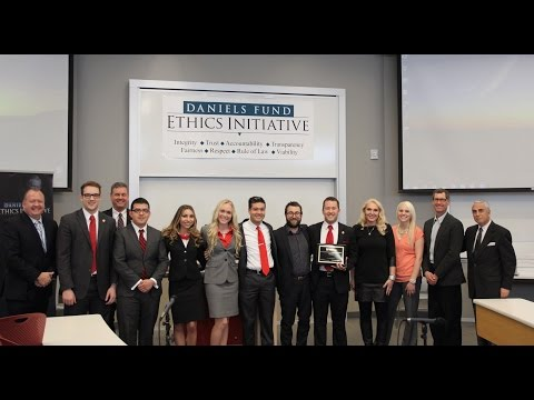 University of Utah Daniels Fund Ethics Initiative Case Competition winners