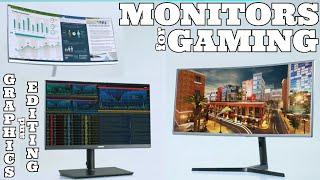 Gaming monitors - curved high quality screens - colourful bright - super best - music - SCREENSHOTZ