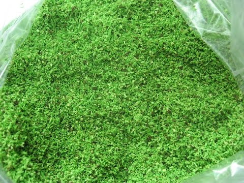 How To Make  Artificial Grass for Models (home made)