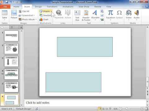 PowerPoint 2010 Draw a Connector
