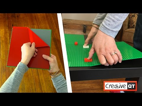The Fastest and Easiest Building Block Table Ever! Peel-and-stick Baseplates by Creative QT