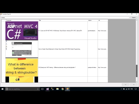 C# Tutorial - Youtube Search with Paging | FoxLearn