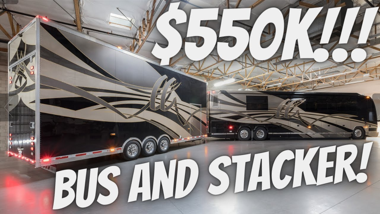 Prevost H3 45 Featherlite Coach and Stacker Trailer tour and test drive For Sale in Arizona