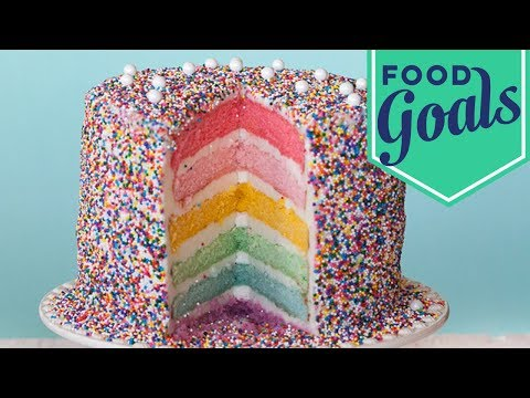 How to Build a Rainbow Layer Cake | Food Network