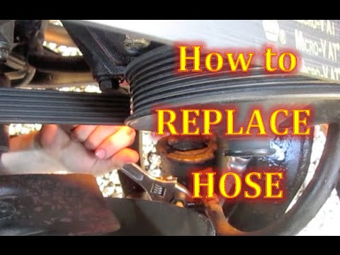 Steps on HOW to change a leaking Power Steering Hose High Pressure Hose Replacement