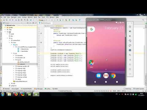 Using TreeView library in AndroidStudio