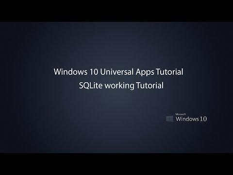 Windows 10 Universal Apps - SQLite in UWP