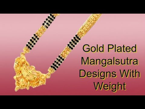 Gold Plated Mangalsutra Designs With Weight