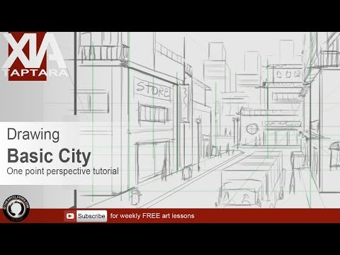 Perspective drawing tutorial basic city sketch
