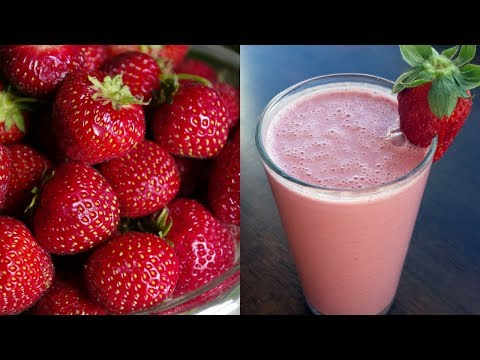 Keventers style STRAWBERRY MILKSHAKE, Fresh Strawberry Milkshake, Strawberry Icecream Milkshake