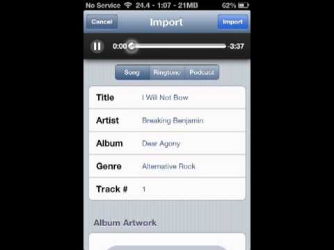 How to download music straight to your itunes library from your iphone! no computer needed!