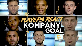MAN CITY PLAYERS REACT!   Squad speaks about THAT goal from Kompany...