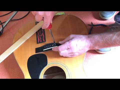 How to remove stuck or broken Bridge Pins from Acoustic Guitar