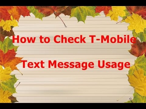 How to Check T-Mobile Text Message Usage By {Haseena Shaik}