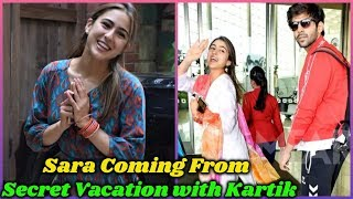 Sara Ali is Coming From Secret Vacation with Kartik Aryaan